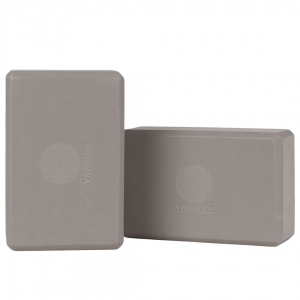 Yoga Block EVA Foam Set Grey