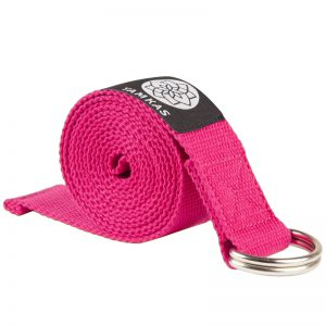 Yamkas yoga strap and belts Fushia